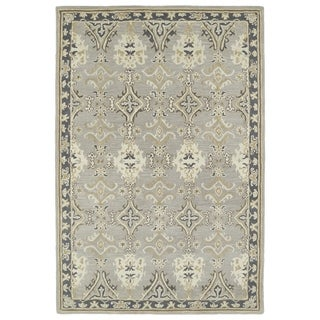 """Hand-Tufted Perry Imperial Grey Wool Rug (5'0 x 7'9"""") - 5' x 7'9"""""""