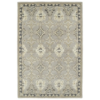 "Hand-Tufted Perry Imperial Grey Wool Rug (5'0 x 7'9"")"