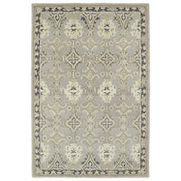 Hand-Tufted Perry Imperial Grey Wool Rug - 5' x 7'9""