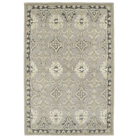 Hand-Tufted Perry Imperial Grey Wool Rug - 3' x 5'