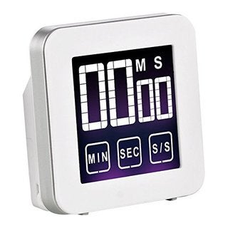 Cook N Home White Aluminum Touch Screen Digital Kitchen Timer