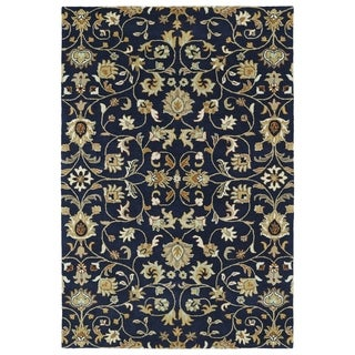 Hand-Tufted Perry Navy All-Over Wool Rug (8'0 x 10'0) - 8' x 10'