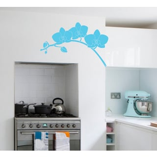 Beautiful Orchid Wall Art Sticker Decal Blue