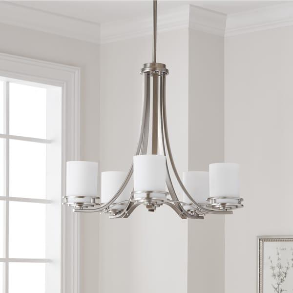 shop kichler lighting hendrik collection 5 light brushed nickel