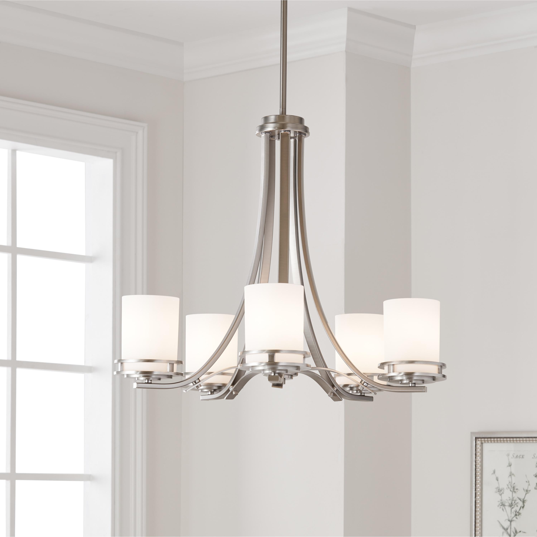 Kichler Lighting Hendrik Collection 5 Light Brushed Nickel Chandelier