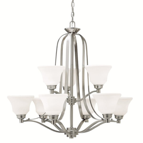 Kichler Lighting Langford Collection 9-light 2-tier Brushed Nickel Chandelier - Brushed nickel