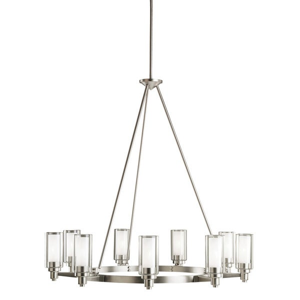 Kichler Lighting Circolo Collection 9-light Brushed Nickel Chandelier