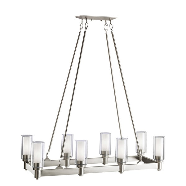 Kichler Lighting Circolo Collection 8-light Brushed Nickel Linear ...