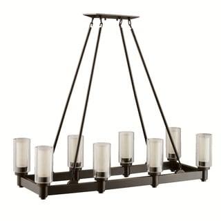 Kichler Lighting Circolo Collection 8-light Olde Bronze Linear Chandelier