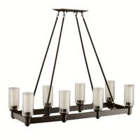 Kichler Lighting Circolo Collection 8-light Olde Bronze Linear Chandelier