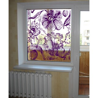 Orchid Collage Wall Art Sticker Decal Purple