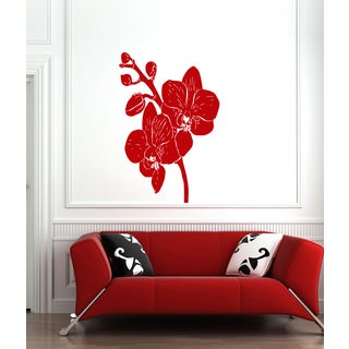 Elegant flower Wall Art Sticker Decal Red