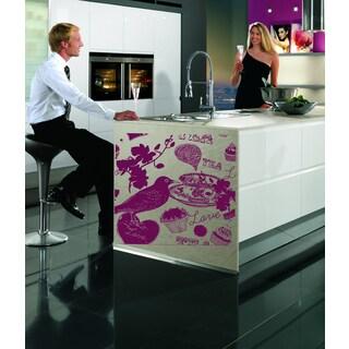 Kitchen restaurant kitchen Tea coffee bird Wall Art Sticker Decal Purple