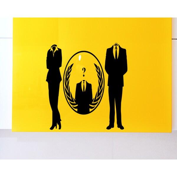 Shop Men\'s suit woman suit globe Wall Art Sticker Decal - Free ...