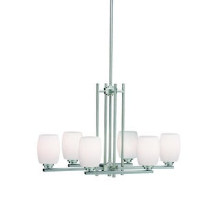 Kichler Lighting Eileen Collection 6-light Brushed Nickel Chandelier