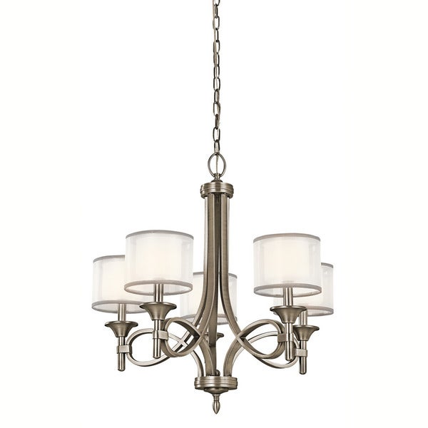 antique pewter lighting. kichler lighting lacey collection 5-light antique pewter chandelier l