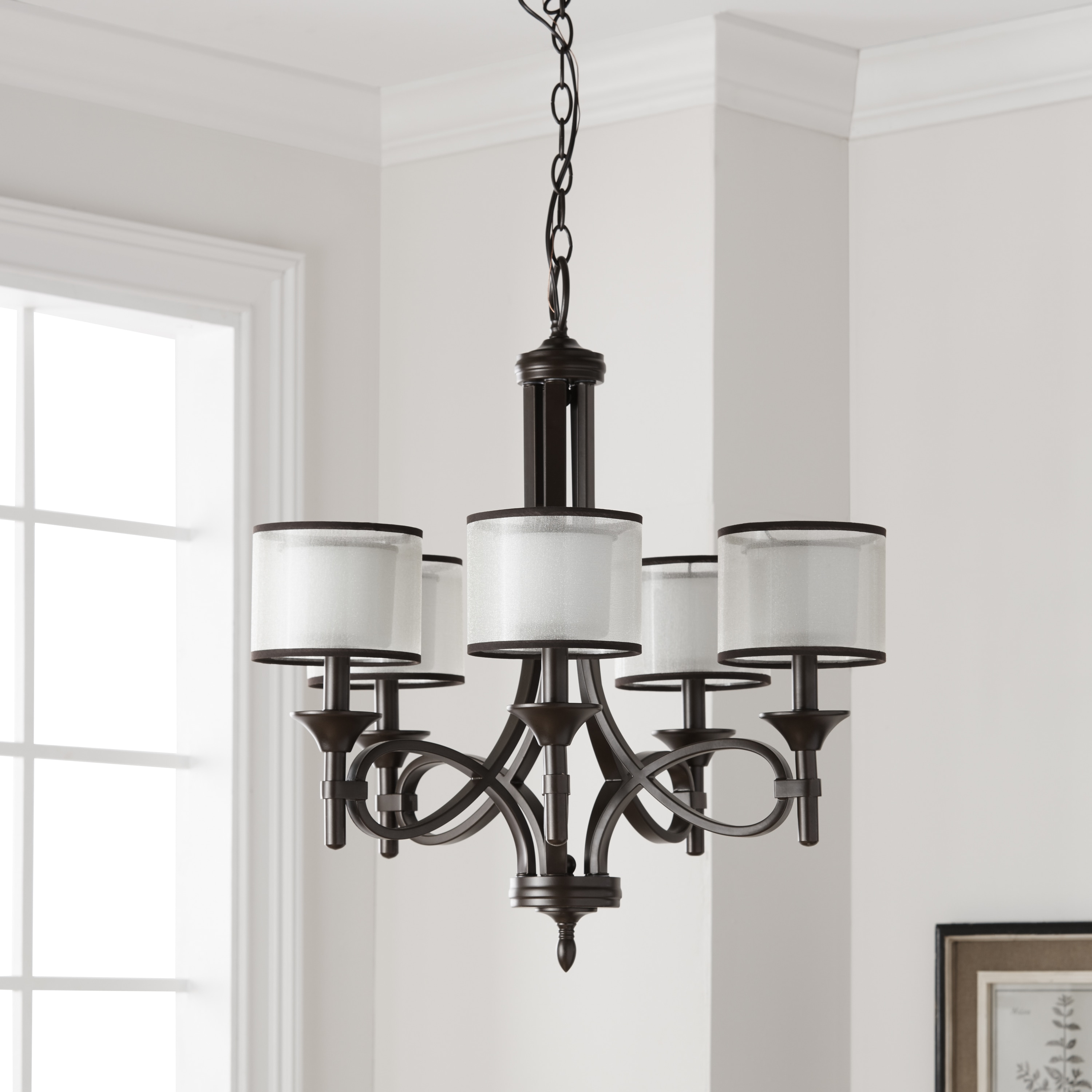 Kichler Lighting Lacey Collection 5 Light Mission Bronze Chandelier
