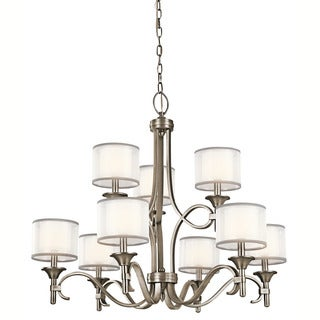 Kichler Lighting Lacey Collection 9-light Antique Pewter 2-tier Chandelier