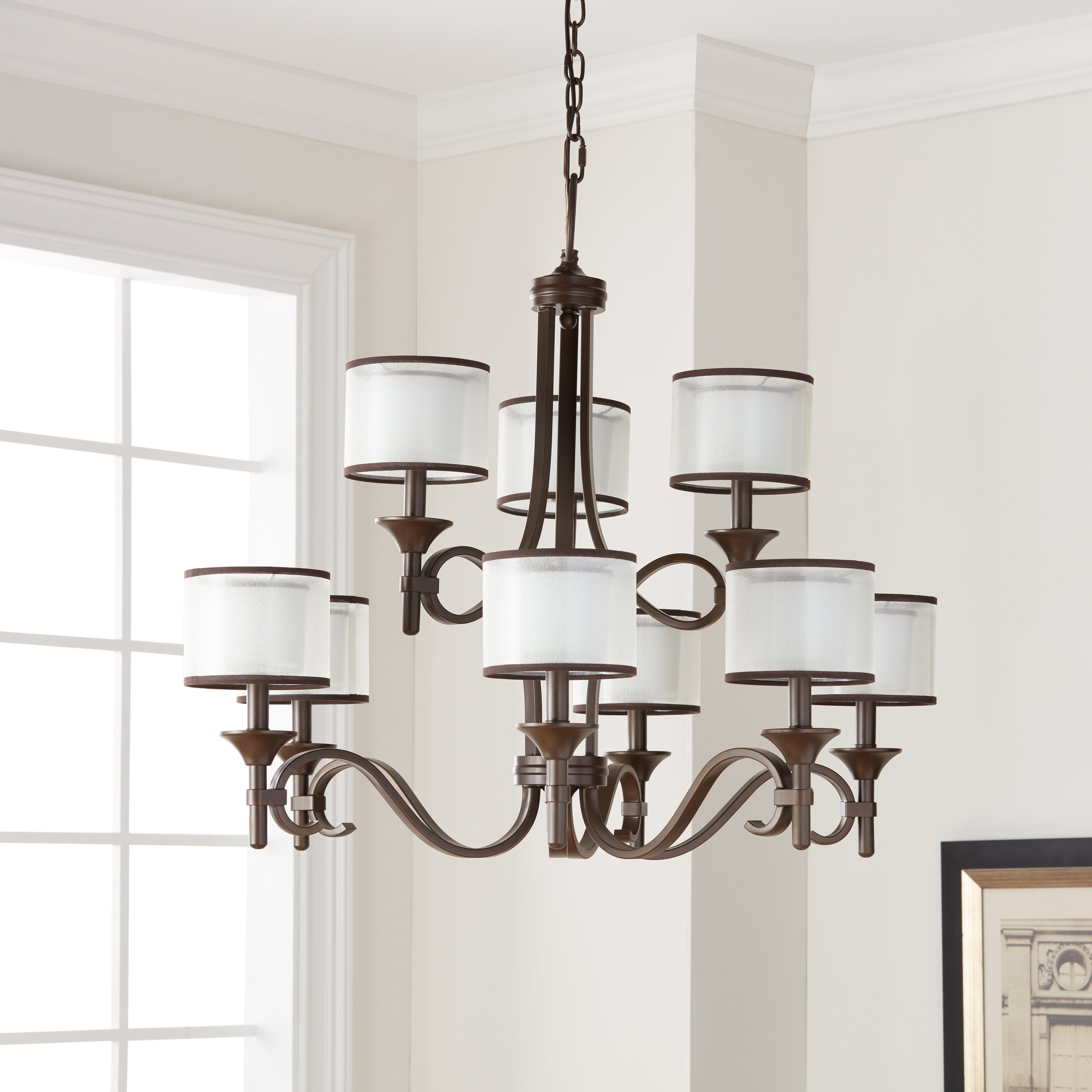 Kichler Lighting Lacey Collection 9 Light Mission Bronze 2 Tier Chandelier