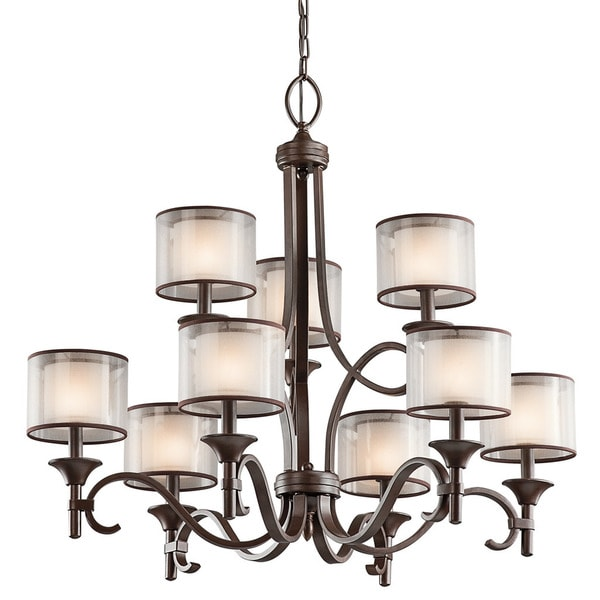 Kichner Lighting: Kichler Lighting Lacey Collection 9-light Mission Bronze 2