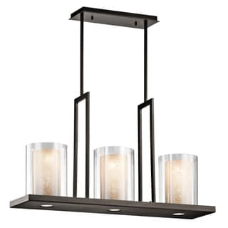 Kichler Lighting Triad Collection 3-light Olde Bronze Linear Chandelier
