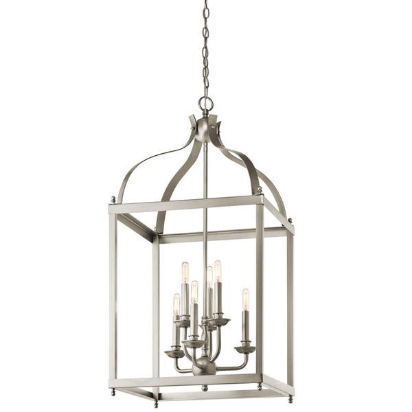 Foyer Lighting Brushed Nickel : Shop kichler lighting larkin collection light brushed