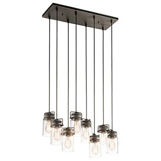Kichler Lighting Brinley Collection 8-light Olde Bronze Linear Chandelier