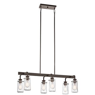 Kichler Lighting Braelyn Collection 6-light Olde Bronze Linear Chandelier