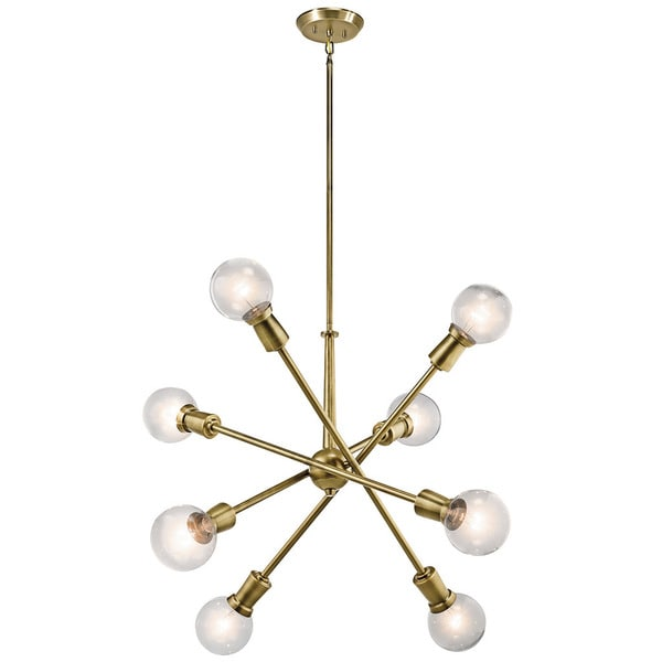 kichler lighting armstrong collection 8light natural brass chandelier - Kichler Lighting