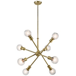 Kichler Lighting Armstrong Collection 8-light Natural Brass Chandelier