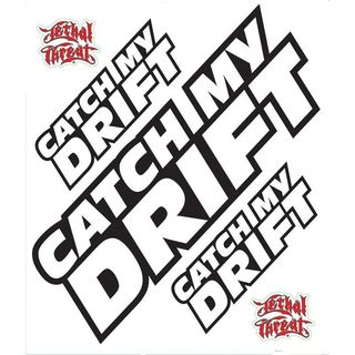 Pilot Automotive 6-inch x 8-inch Catch my drift Vehicle Car Decal Stickers