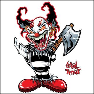 Pilot Automotive 6-inch x 8-inch AX CLOWN Vehicle Car Decal Stickers