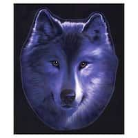 Pilot Automotive 6-inch x 8-inch Blue Wolf Vehicle Car Decal Stickers