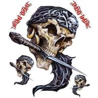 Pilot Automotive 6-inch x 8-inch Pirate Skull  Dagger Vehicle Car Decal Stickers