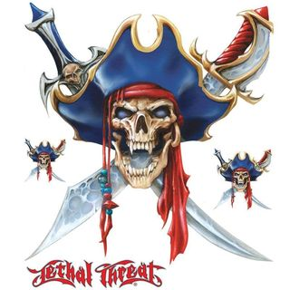 Pilot Automotive 6-inch x 8-inch Pirate Skull Vehicle Car Decal Stickers