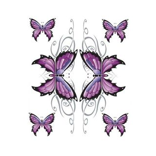 Pilot Automotive 6-inch x 8-inch Butterfly Glitter Vehicle Car Decal Stickers