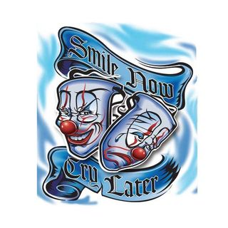 Pilot Automotive 6-inch x 8-inch Smile Now Cry Later Vehicle Car Decal Stickers