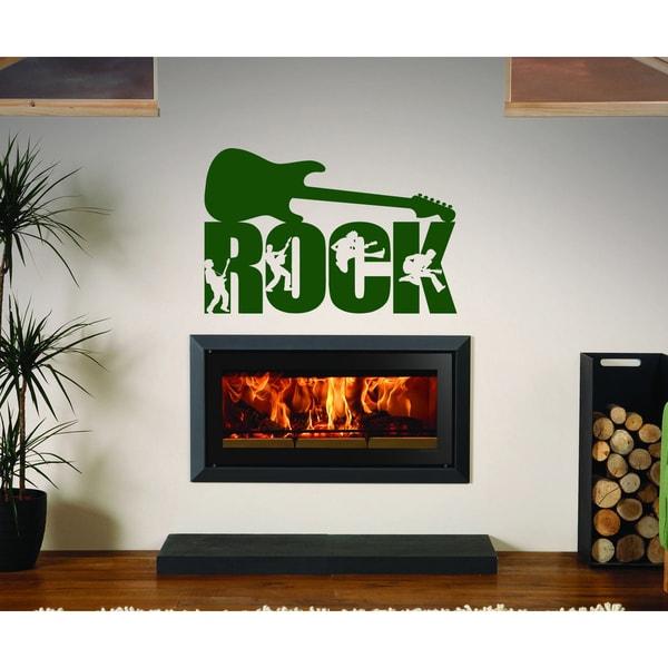 Shop Rock music rock and roll Wall Art Sticker Decal Green - Free ...