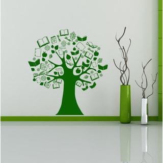 Tree textbooks Apple tree Wall Art Sticker Decal Green