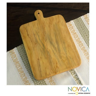 Handcrafted Pinewood 'The Trusty Classic' Cutting Board (Guatemala)