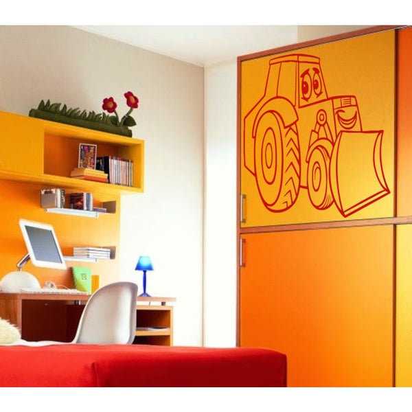 Shop Children\'s tractor Wall Art Sticker Decal Red - Free Shipping ...