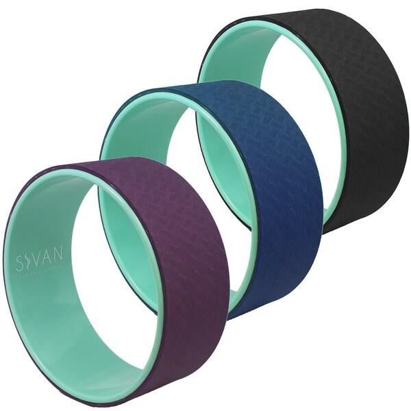 High Strength Premium TPE Mat Material 12.6-inch Portable Yoga Wheel