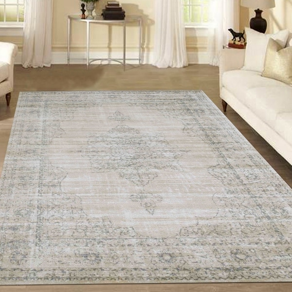 Admire Home Living Corina Medallion Area rug (7'10 x 10'6) - 7'10 x 10'6
