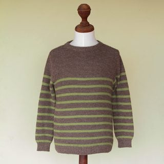 Men's Alpaca Blend 'Brown Cuzco Casual' Sweater (Peru)