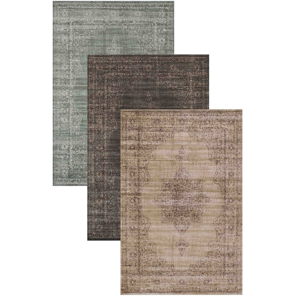 Admire Home Living Corina Medallion Area rug (7'10 x 10'6) - 7'10 x 10'6