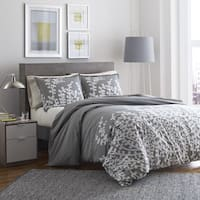 The Gray Barn Rankin Grey Branches Printed 3-piece Duvet Set