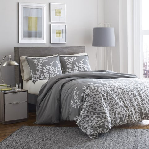 Copper Grove Collina Grey Branches Printed 3-piece Comforter Set