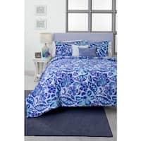 Seventeen Ombre Damask 5-piece Comforter Set