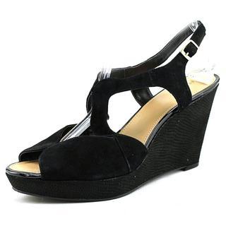 Alfani Women's Pellae Black Suede Mid-heel Sandals
