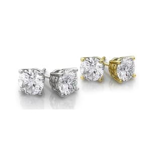2-Piece Set: 14kt White and Yellow Studs.|https://ak1.ostkcdn.com/images/products/11889679/P18785246.jpg?impolicy=medium